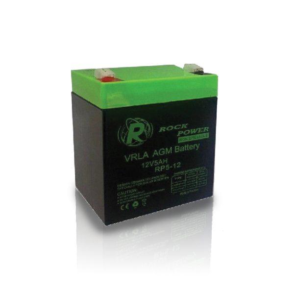 باتری 12 ولت 5 آمپر rock power